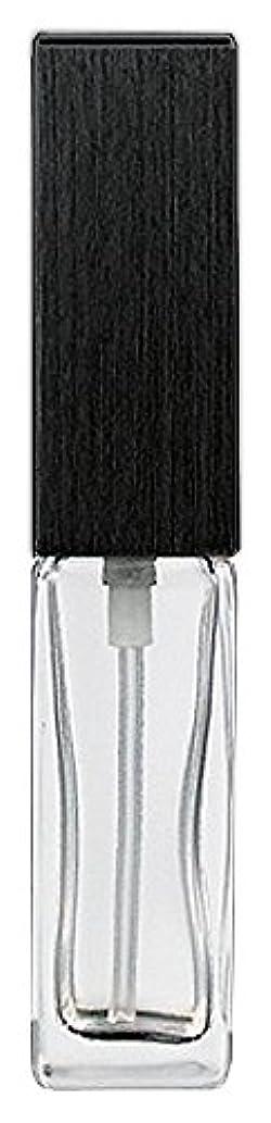 ファセット準備ができてコジオスコ16494 メンズアトマイザー 角ビン クリア キャップ ヘアラインブラック
