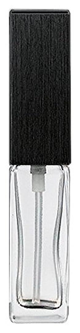 落ち着かない委託ジョイント16494 メンズアトマイザー 角ビン クリア キャップ ヘアラインブラック