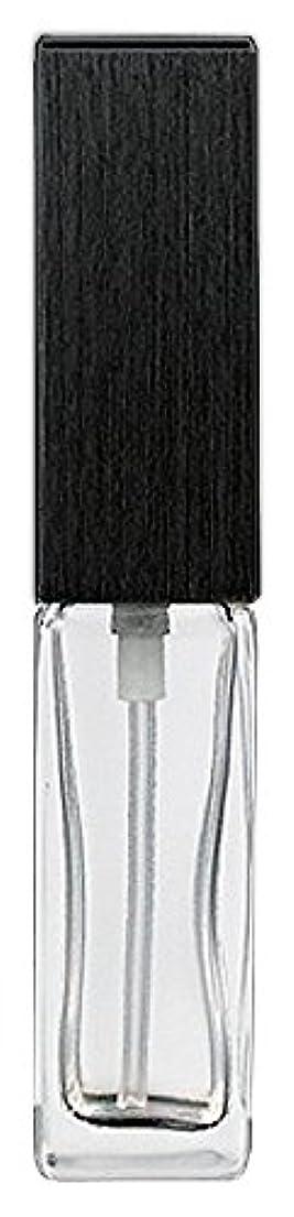 経済的ルネッサンス変換する16494 メンズアトマイザー 角ビン クリア キャップ ヘアラインブラック