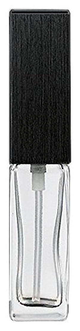 キャラクター長椅子影響する16494 メンズアトマイザー 角ビン クリア キャップ ヘアラインブラック