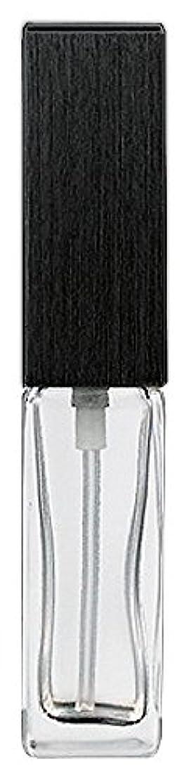 特異なキーテンポ16494 メンズアトマイザー 角ビン クリア キャップ ヘアラインブラック