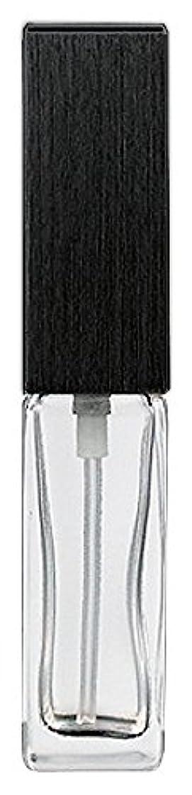 憲法高める急行する16494 メンズアトマイザー 角ビン クリア キャップ ヘアラインブラック