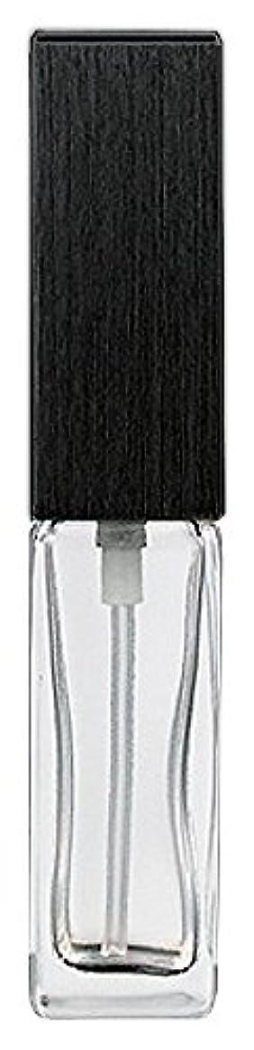 エントリ削減ドロップ16494 メンズアトマイザー 角ビン クリア キャップ ヘアラインブラック