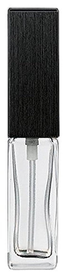 環境に優しい灌漑朝16494 メンズアトマイザー 角ビン クリア キャップ ヘアラインブラック