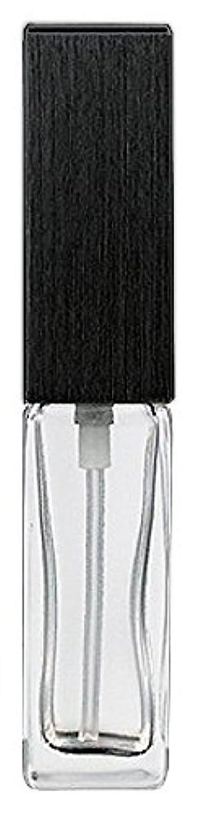 合金磁気グレード16494 メンズアトマイザー 角ビン クリア キャップ ヘアラインブラック