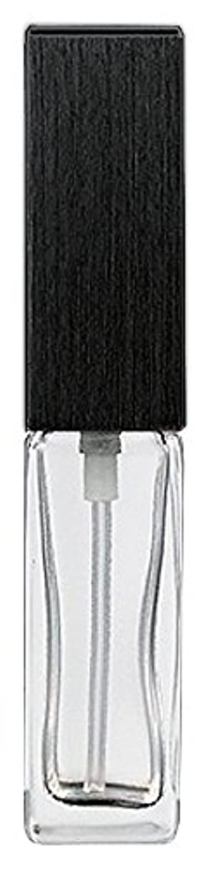 栄光のベリところで16494 メンズアトマイザー 角ビン クリア キャップ ヘアラインブラック