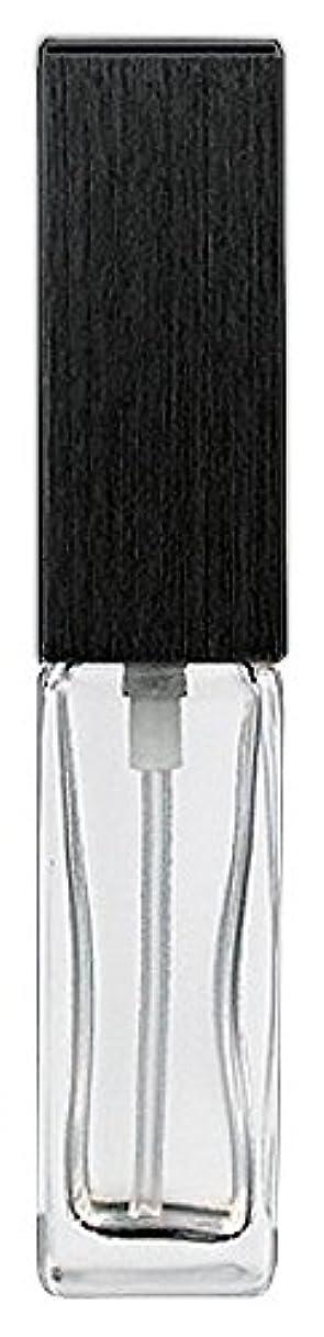 花に水をやる吸うグリル16494 メンズアトマイザー 角ビン クリア キャップ ヘアラインブラック