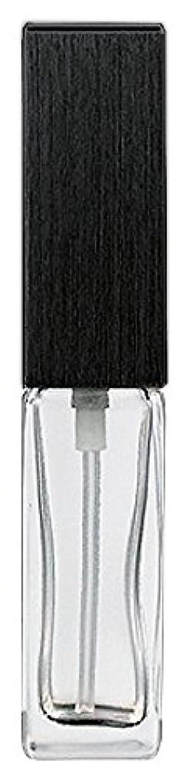ハッチ矢じり不良品16494 メンズアトマイザー 角ビン クリア キャップ ヘアラインブラック