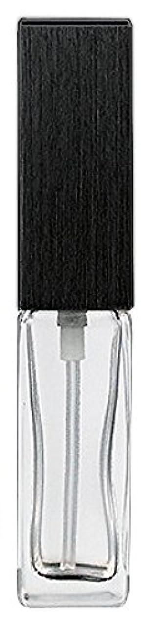 懲らしめ早くイチゴ16494 メンズアトマイザー 角ビン クリア キャップ ヘアラインブラック