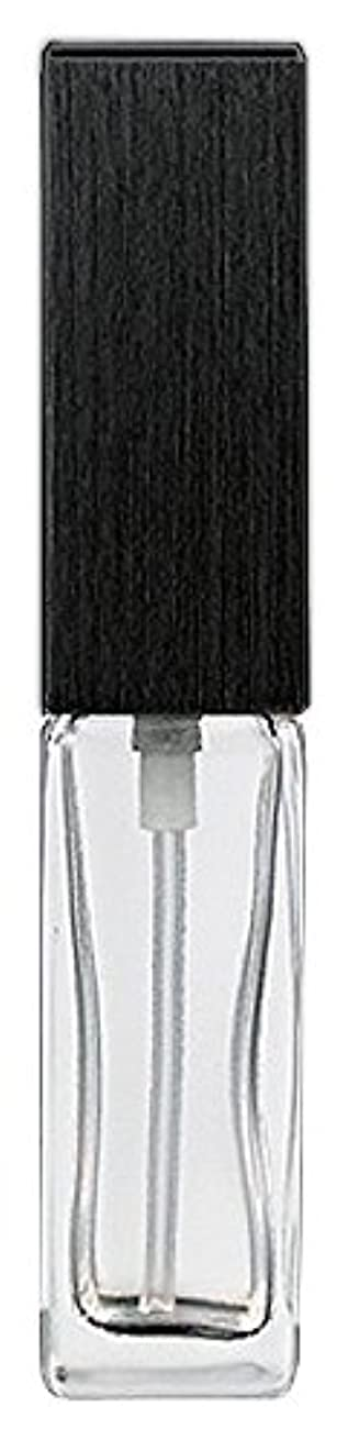 ポーズ経験者指定する16494 メンズアトマイザー 角ビン クリア キャップ ヘアラインブラック