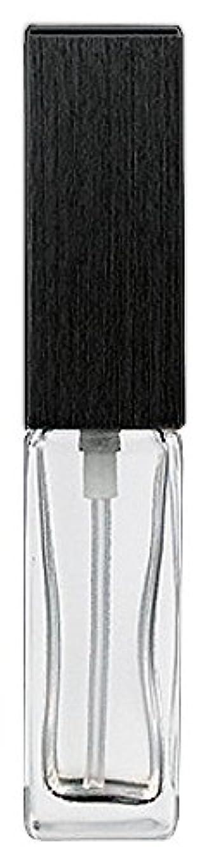 キャストカラス偽装する16494 メンズアトマイザー 角ビン クリア キャップ ヘアラインブラック