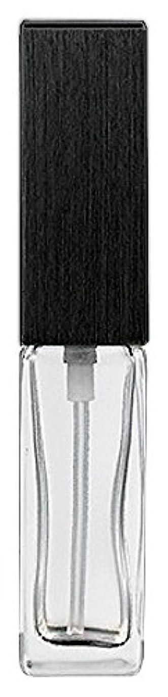 可塑性クッション百万16494 メンズアトマイザー 角ビン クリア キャップ ヘアラインブラック