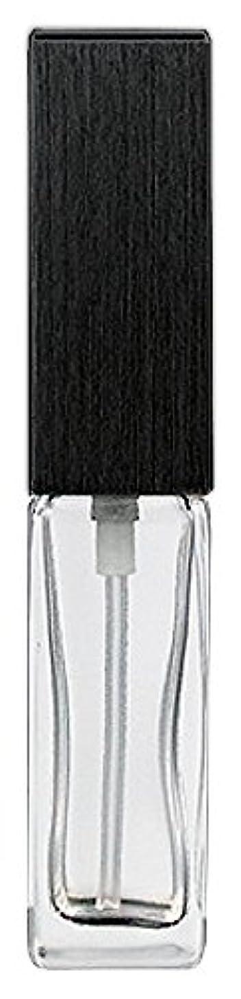 速度瀬戸際欺く16494 メンズアトマイザー 角ビン クリア キャップ ヘアラインブラック