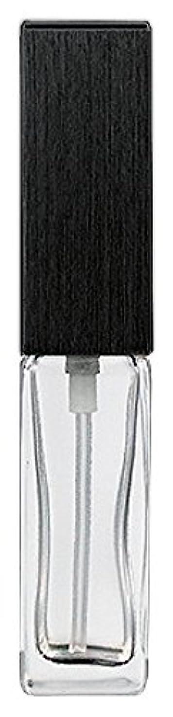 ぶら下がる冷淡な抱擁16494 メンズアトマイザー 角ビン クリア キャップ ヘアラインブラック