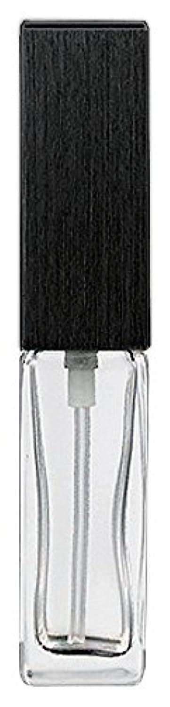 組み合わせ好戦的なギネス16494 メンズアトマイザー 角ビン クリア キャップ ヘアラインブラック