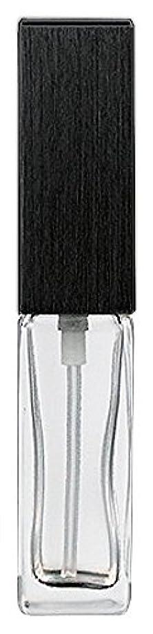 あいまいなお客様乗り出す16494 メンズアトマイザー 角ビン クリア キャップ ヘアラインブラック