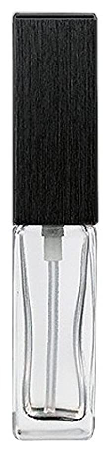 キノコ主権者かどうか16494 メンズアトマイザー 角ビン クリア キャップ ヘアラインブラック