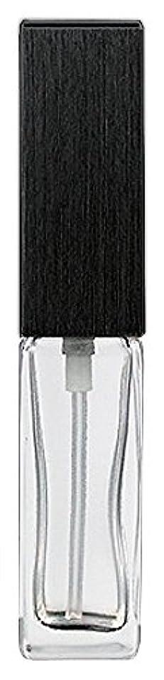 熟達臨検グレートオーク16494 メンズアトマイザー 角ビン クリア キャップ ヘアラインブラック