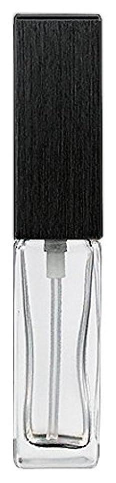印刷する大統領ガレージ16494 メンズアトマイザー 角ビン クリア キャップ ヘアラインブラック
