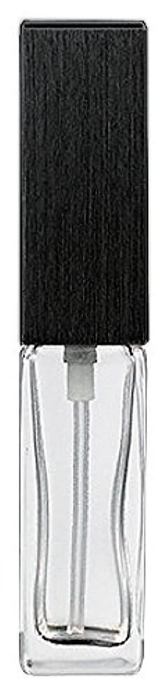 突然の警報枯れる16494 メンズアトマイザー 角ビン クリア キャップ ヘアラインブラック