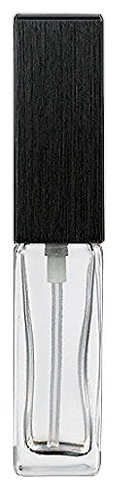 祭司湿度対話16494 メンズアトマイザー 角ビン クリア キャップ ヘアラインブラック