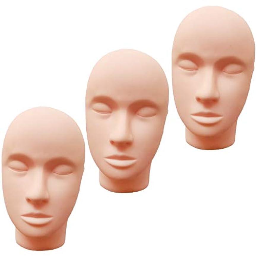 等しいシリンダー音楽T TOOYFUL ヘッドマネキン メイク練習用 モデル 化粧 フェイス メイクアップ まつげエクステ 繰り返し利用