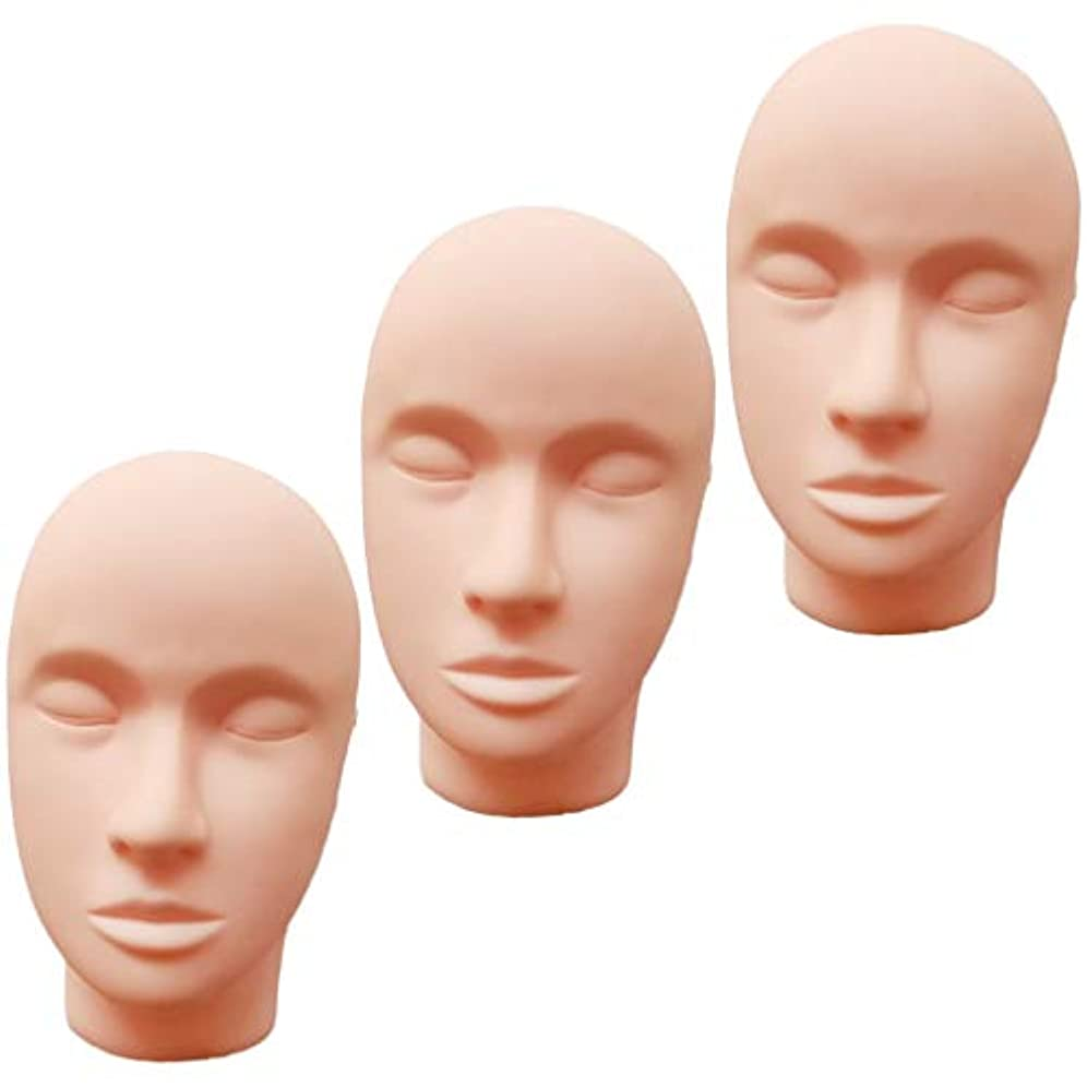 反発する耳ピルファーT TOOYFUL ヘッドマネキン メイク練習用 モデル 化粧 フェイス メイクアップ まつげエクステ 繰り返し利用