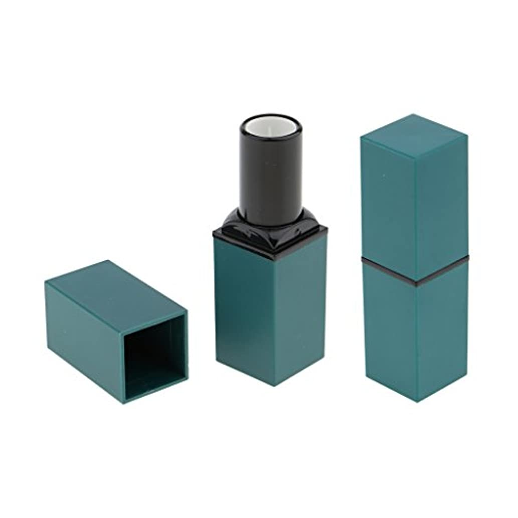 Baosity 2本 リップスティック リップバーム 口紅 DIY 手作り 空チューブ 12.1 mm 口紅モデル 便利 全4色 - 青