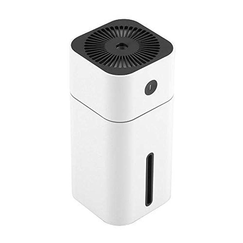 ショットビバ力学ディフューザー、USB充電式ポータブルミニ超音波アロマ加湿器7色LEDライトカーオフィス(ホワイト)