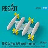 レスキット 1/72 イギリス空軍 1000ポンド自由落下航空爆弾 4個入り プラモデル用パーツ RSK72-0187