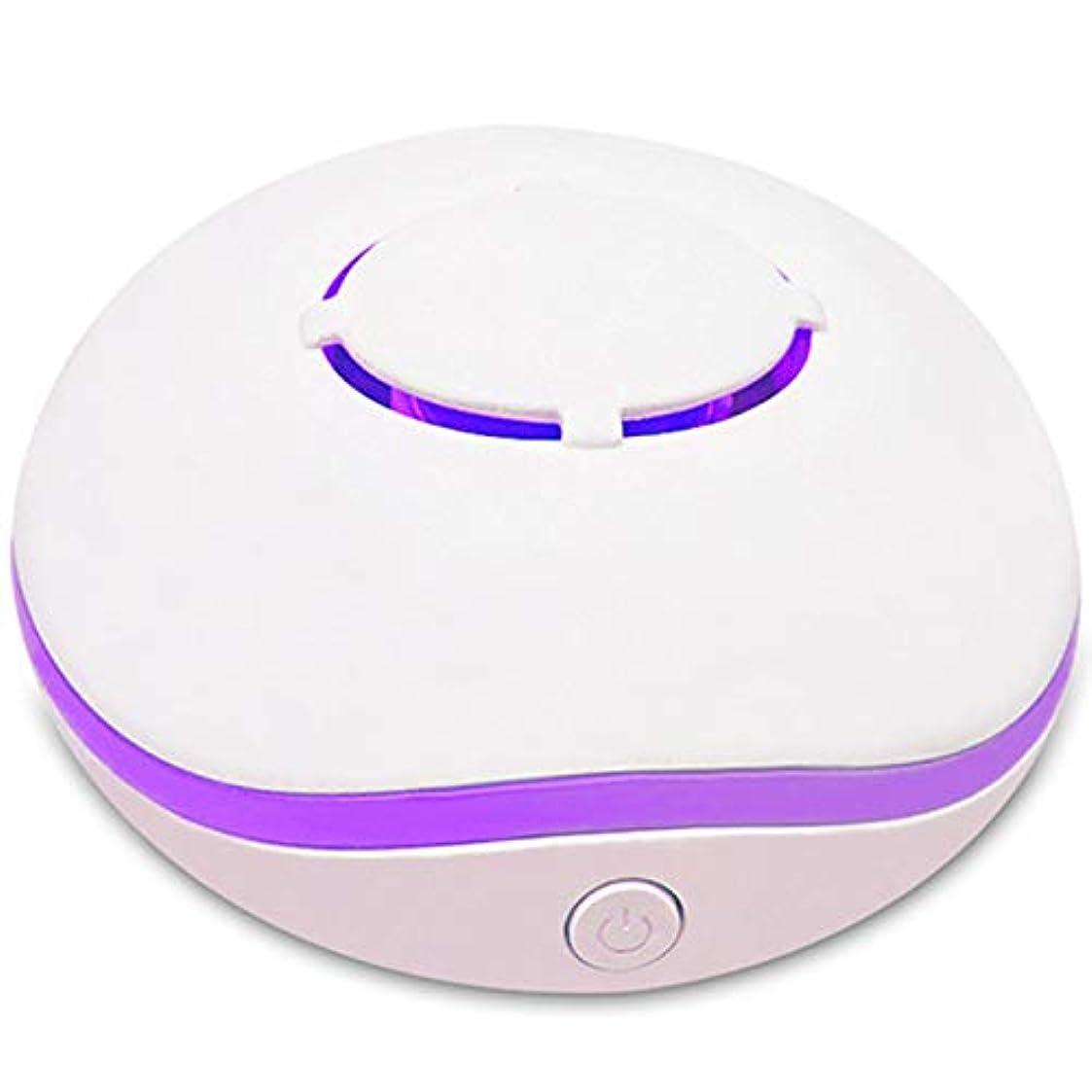 ピースバレエ理容師SODIAL 無水アロマ?ミニディフューザー、エッセンシャルオイルの携帯用ネブライザー、アロマオイルの拡散、家庭用、2つの接続電源モード、白色