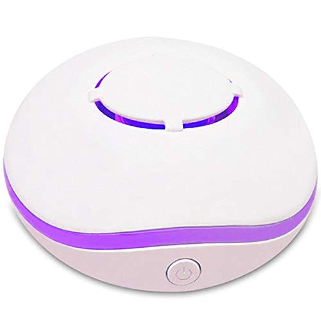 純正協力する収容するSODIAL 無水アロマ?ミニディフューザー、エッセンシャルオイルの携帯用ネブライザー、アロマオイルの拡散、家庭用、2つの接続電源モード、白色