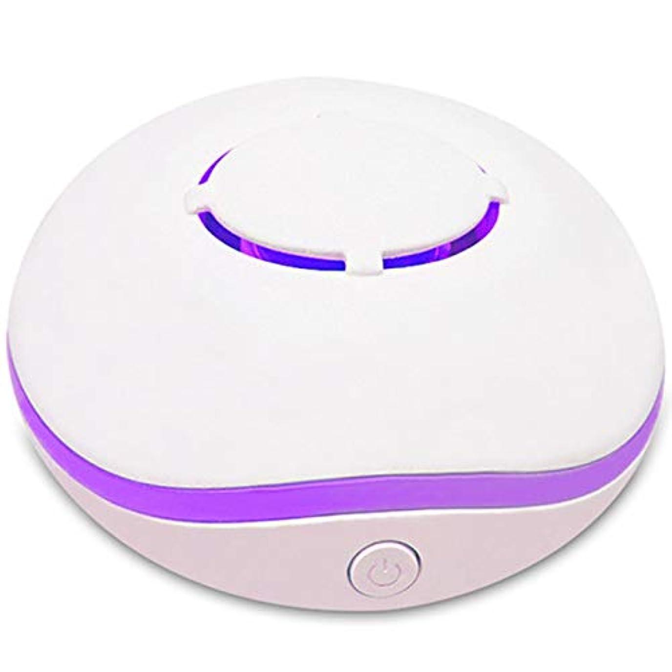 首謀者リンスライラックSODIAL 無水アロマ?ミニディフューザー、エッセンシャルオイルの携帯用ネブライザー、アロマオイルの拡散、家庭用、2つの接続電源モード、白色