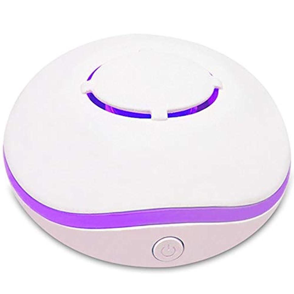 酔った体細胞家族SODIAL 無水アロマ?ミニディフューザー、エッセンシャルオイルの携帯用ネブライザー、アロマオイルの拡散、家庭用、2つの接続電源モード、白色