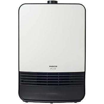 [山善] セラミックヒーター(1200/1100W 2段階切替) ホワイト HF-J123(W) [メーカー保証1年]