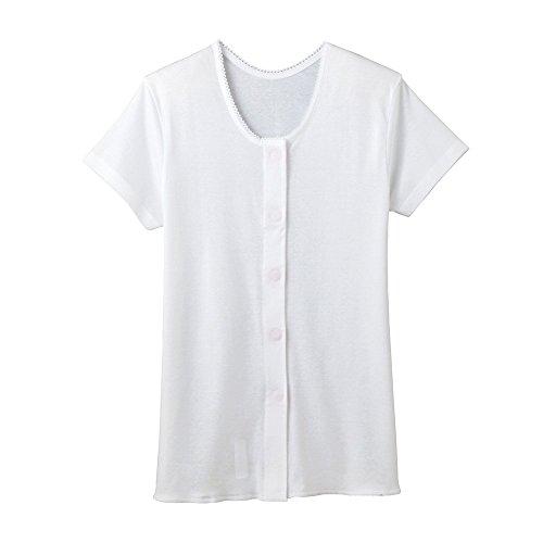 らくらく肌着2枚組 女性用 3分袖ワンタッチインナー ホワイトLL