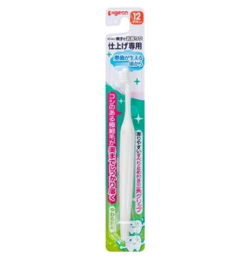 甘くするリラックス埋める【まとめ買い】ピジョン 仕上げ専用歯ブラシ 奥歯が生える頃から ×12個