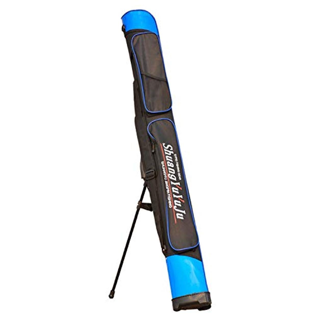 副選択するピルブラケット付きのブルーの釣り竿ダブルデッキ釣りバッグ釣りギアバッグ,Blue