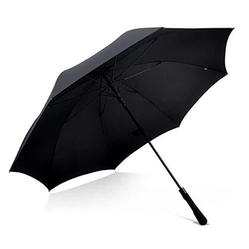 傘 傘 長柄大型メンズ傘 二人用自動傘 防風ビジネス傘 晴れ雨の日兼用傘 黒/ギフト (Color : Black, Size : 123*96cm)
