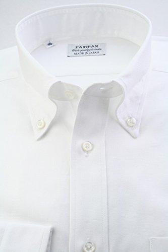 (フェアファクス) FAIRFAX ロイヤルオックスのボタンダウン 白無地 綿100% 国産生地使用 (細身) ドレスシャツ b1886