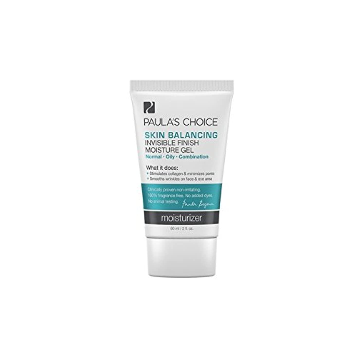 バース溶けたスパイラルポーラチョイスの肌のバランス目に見えない仕上がり水分ゲル(60ミリリットル) x4 - Paula's Choice Skin Balancing Invisible Finish Moisture Gel (60ml) (Pack of 4) [並行輸入品]