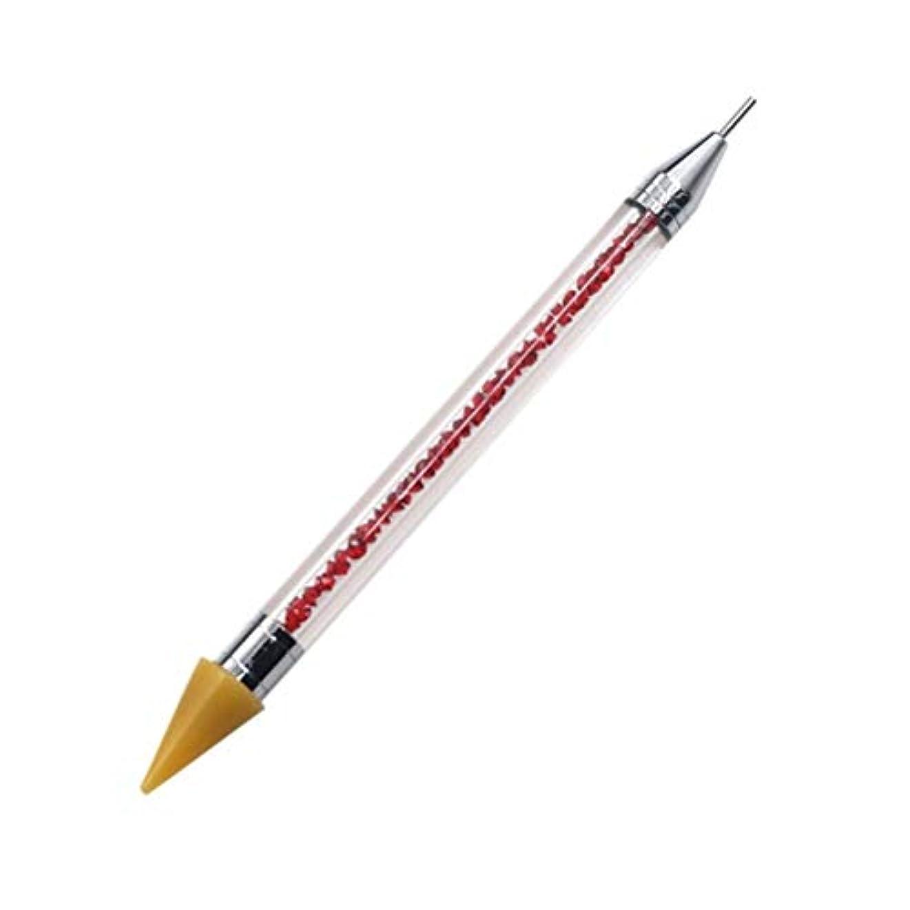 トレッドトレッドインデックスネイルペン DIY デュアルエンド 絵画ツール ペン ネイル筆 ネイルアートペン ネイルアートブラシ マニキュアツールキット ネイルツール ネイル用品 ラインストーンピッカー点在ペン マニキュアネイルアート DIY 装飾ツール