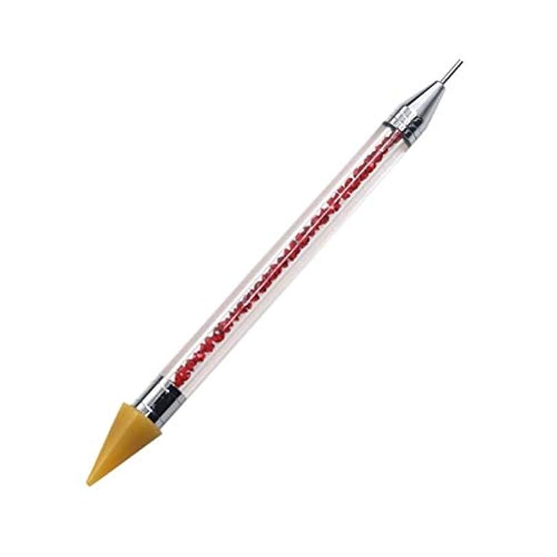 頑張る津波シプリーネイルペン DIY デュアルエンド 絵画ツール ペン ネイル筆 ネイルアートペン ネイルアートブラシ マニキュアツールキット ネイルツール ネイル用品 ラインストーンピッカー点在ペン マニキュアネイルアート DIY 装飾ツール