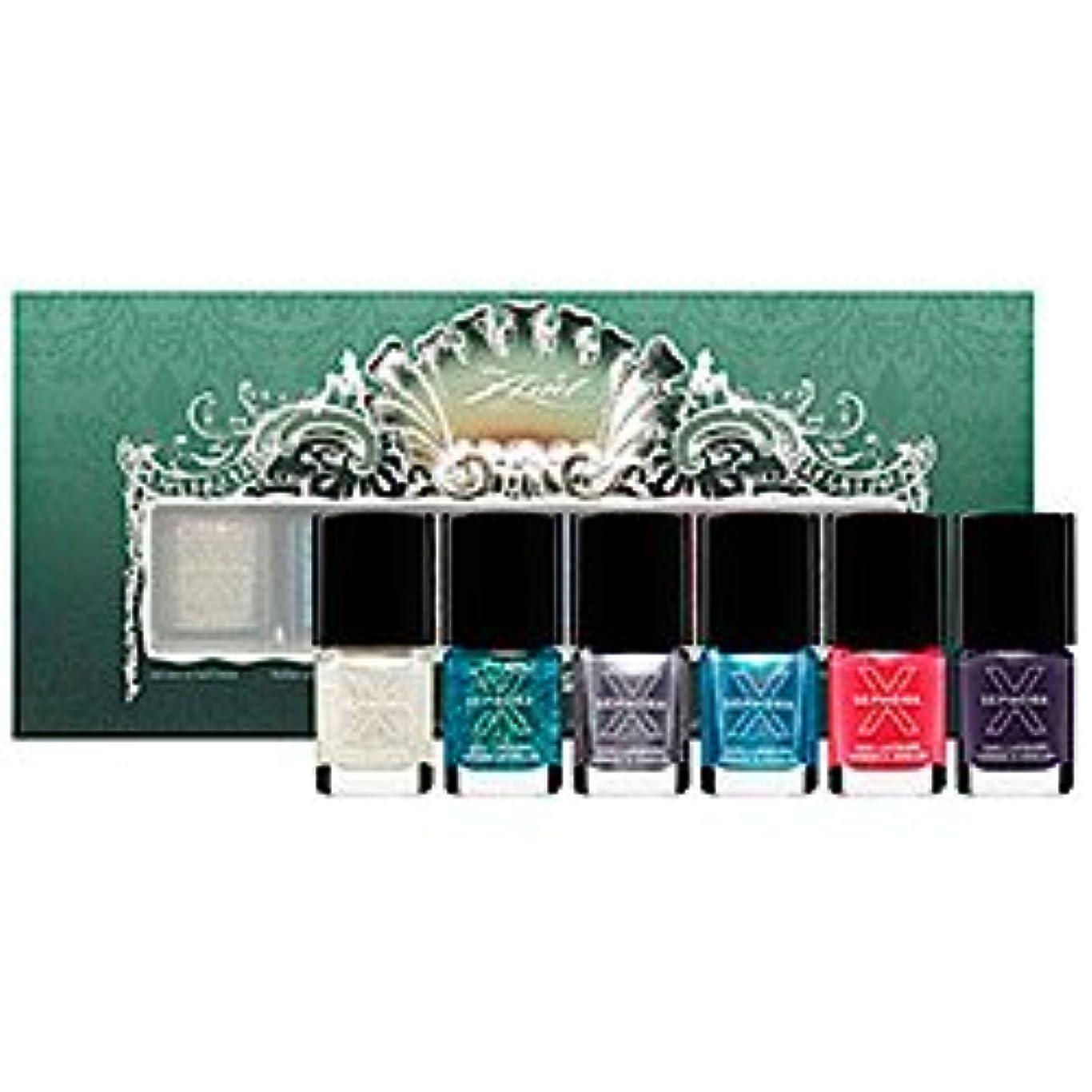 植物学者おなじみの大きさDisney Sephora Ariel Whatcha-Nail-Callit 6 Piece Nail Set (ディズニー セフォラ アリエル ネイル カラー 6点セット)