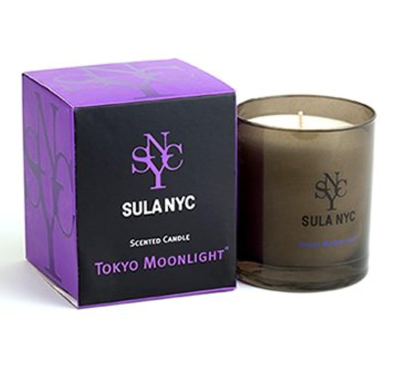 見習いペチコート一節SULA NYC グラス キャンドル 190g TOKYO MOONLIGHT トーキョー?ムーンライト 燃焼時間:約45時間 スーラNYC