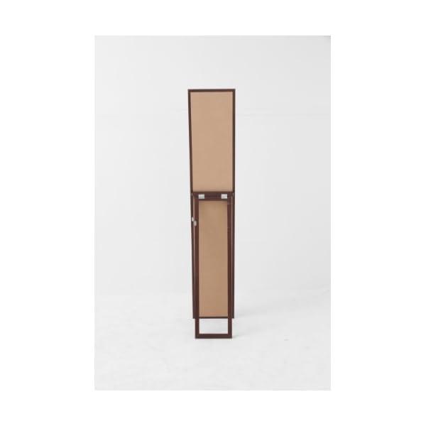不二貿易 木製スタンドミラー 幅27×高さ14...の紹介画像2