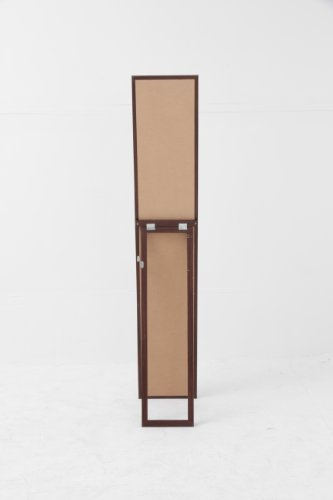 不二貿易 木製スタンドミラー 幅27×高さ147.5cm 飛散防止 ブラウン 72091