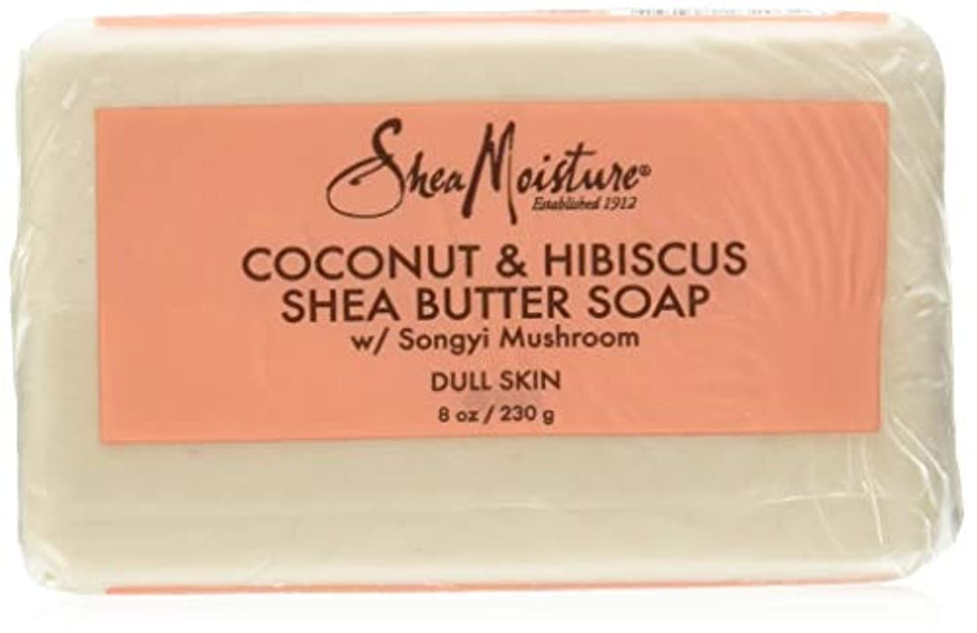 モニター苦悩動的Shea Moisture Coconut Hibiscus Bar Soap- 235 ml by Shea Moisture