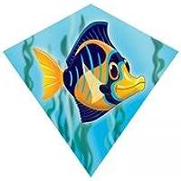 WINDNSUN 18インチミニダイヤモンドナイロンカイト スカイテールハンドル&ライン付属 (天使の魚)