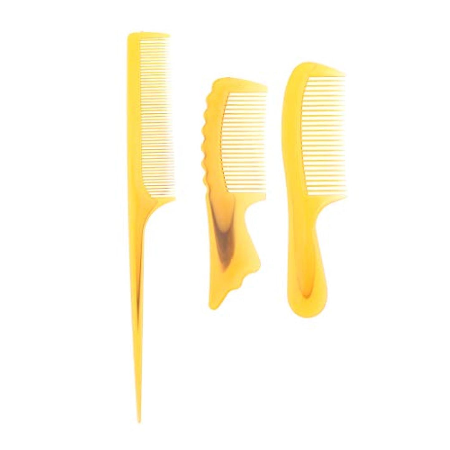 距離できたメッセンジャーF Fityle 3個 髪の櫛 静電防止櫛 ヘアブラシ ヘアコーム コーム